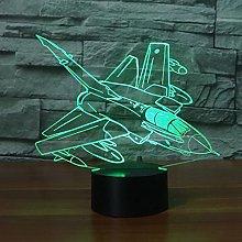 Tissen 3D Aircraft Plane Night Light 7 Colors Mood