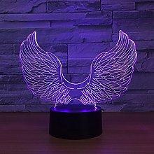 Tissen 3D Angel Wing Night Light 7 Colors Mood