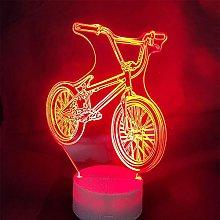 Tissen 3D Bike Night Light 7 Colors Mood Lamp