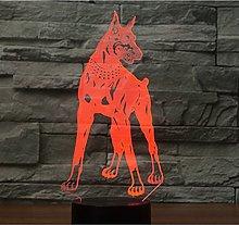 Tissen 3D Doberman Pinscher Dog Night Light 7