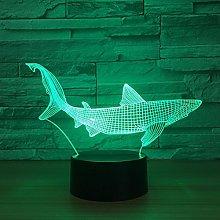 Tissen 3D Fish Shark Night Light 7 Colors Mood