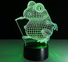 Tissen 3D Frog Night Light 7 Colors Mood Light
