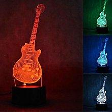 Tissen 3D Guitar Night Light 7 Colors Mood Light