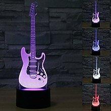 Tissen 3D Guitar Piano Music Note Night Light 7