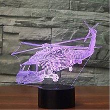 Tissen 3D Helicopter Aircraft Plane Night Light 7