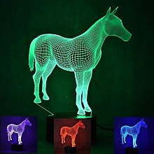Tissen 3D Horse Night Light 7 Colors Mood Light