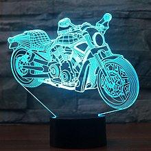 Tissen 3D Motorcycle Car Night Light 7 Colors Mood