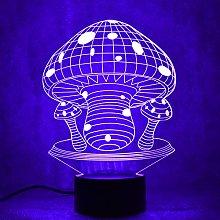 Tissen 3D Mushroom Night Light 7 Colors Mood Light