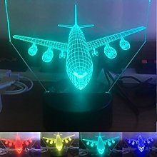 Tissen 3D Plane Night Light 7 Colors Mood Light