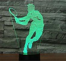 Tissen 3D Play Tennis Night Light 7 Colors Mood