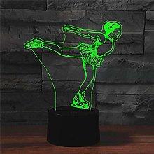 Tissen 3D Skating Ballet Sport Night Light 7