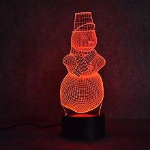 Tissen 3D Snowman Light 7 Colors Mood Light Touch