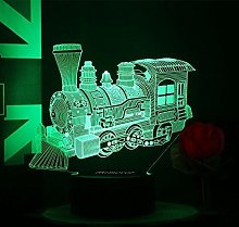Tissen 3D Train Bus Night Light Lamp 7 Colors Mood