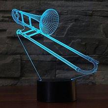 Tissen 3D Trumpet Trombone Music Night Light 7