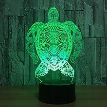 Tissen 3D Turtle Night Light 7 Colors Mood Light