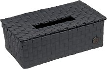 Tissue Box Cover Handed By Colour: Dark Grey