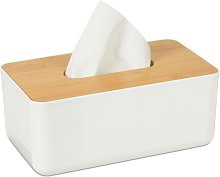 Tissue Box Cover with Bamboo Top, Baby Wipe