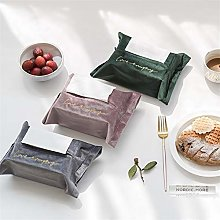 Tissue Box, Embroidery Velvet Tissue Box Storage