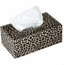 Tissue Boxleopard Print Leather Fashion Tissue Box