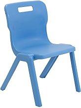 Titan One Piece Classroom Chair, Plastic, Sky