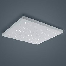 Titus LED ceiling light, white 75 x 75 cm