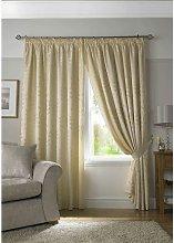 Tivoli, Cream Lined Curtains, Trailing Leave