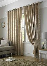 Tivoli, Latte Lined Curtains, Trailing Leave