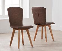 Tivoli Retro Faux Leather Chairs (Pairs)