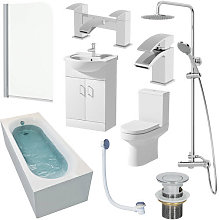 Tivoli Single End 1600mm Bathroom Suite- 550mm