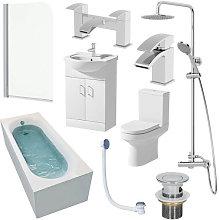 Tivoli Single End 1700mm Bathroom Suite- 550mm