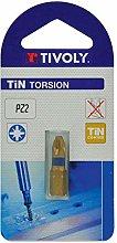 TIVOLY 11522220100 Torsion Screw Bit Tin for