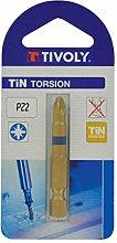 TIVOLY 11522720200 Torsion Screw Bits Tin for