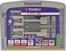 Tivoly 11900670002 Tool Set with Drill Bits/Walnut