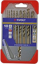 Tivoly A33–Pack of 10Drill Bits for Metal
