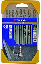 Tivoly B44–Pack of 8Drill Bits for