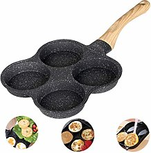 Tixiyu Egg Frying Pan 4 Cup Mold,Non-Stick Iron