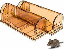 Tixiyu Humane Mouse Trap 2 Pack, Reusable Mouse