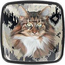 TIZORAX Cat Clipart 3D Printed Crystal Glass