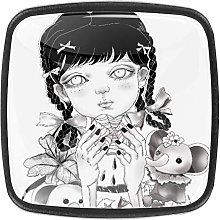TIZORAX Dark Girl 3D Printed Crystal Glass Cabinet