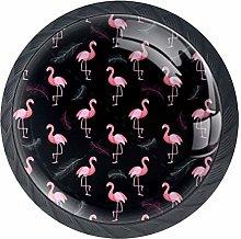 TIZORAX Flamingo Feather Kitchen Cabinet Knobs