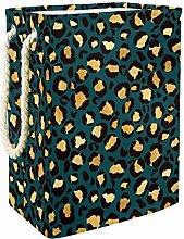 TIZORAX Gold Leopard Animal Print Collapsible