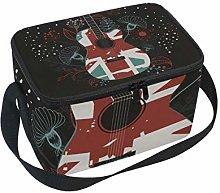 TIZORAX Jezz Music Guitar Insulated Lunch Bag