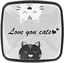 TIZORAX Lovely Cat Clipart 3D Printed Crystal