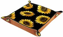 TIZORAX Pattern With Sunflowers Office Desk