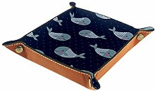 TIZORAX Pattern With Whales Office Desk Organizer
