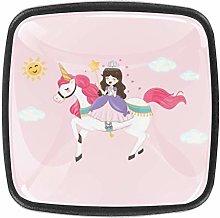 TIZORAX Princess Riding Unicorn 3D Printed Crystal