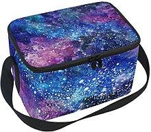 TIZORAX Space Galaxy Nebula Starry Insulated Lunch