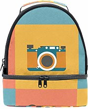 TIZORAX Vintage Cameras Lunch Bag Insulated Lunch