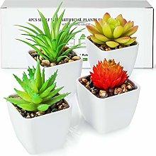 TJ.MOREE Artificial Plants Cute Green Succulents