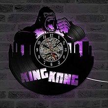 TJIAXU CD Record Wall Clock King Kong Movie Wall